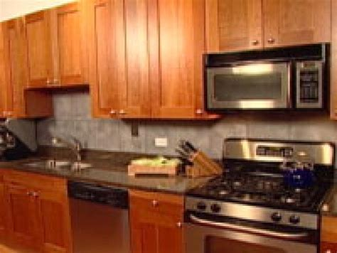 easy kitchen design an easy backsplash made with vinyl tile hgtv