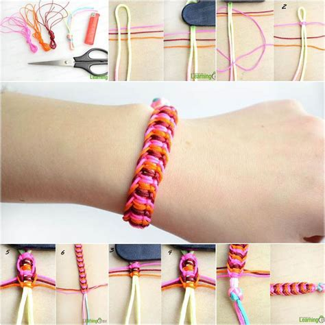 How To Make Macrame Knots - diy stylish square knot macrame bracelet icreativeideas