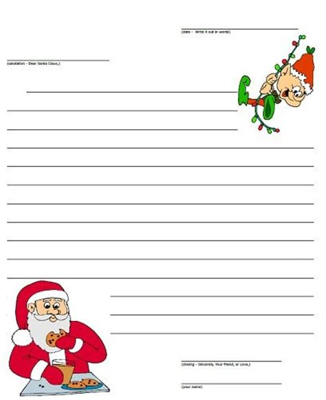 printable santa paper write letters to santa with this printable letter paper