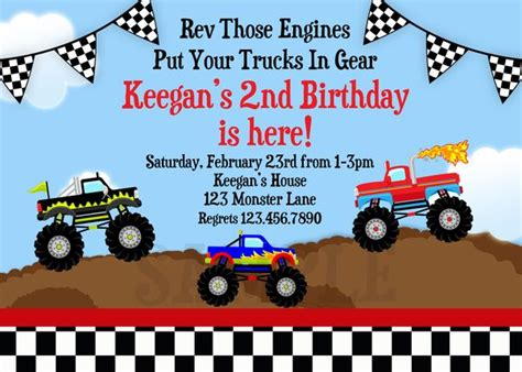 truck invitation template printable birthday invitations boy truck