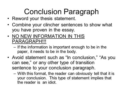 Conclusion Exle For Essay by How To Write History Essay Conclusion Format Homework For You