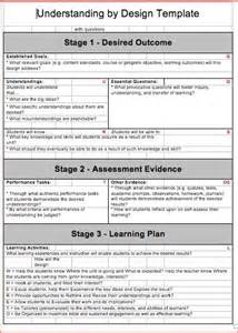 How To Design A Lesson Plan Template by Backward Design Lesson Plan Template 2 Resume Business