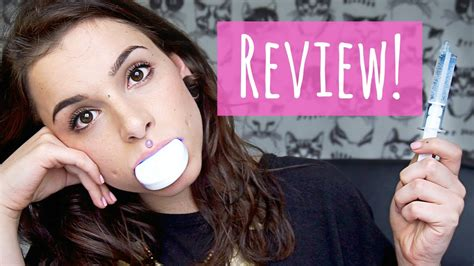 review  home teeth whitening kit youtube