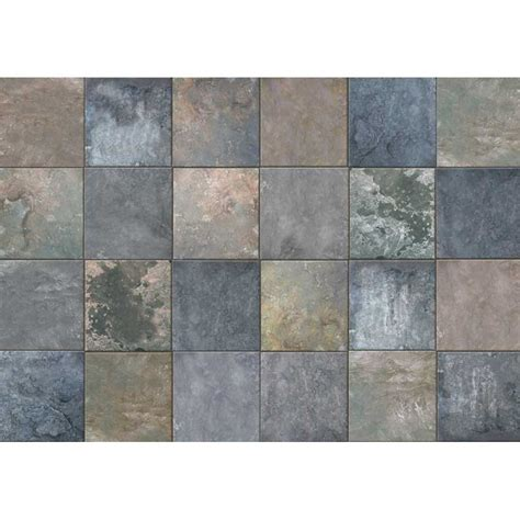 Tile Area Rug Photo Mat Slate Tile In Patterned Rugs