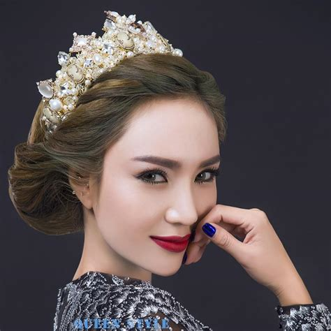 Wedding Hair With Crown by Luxury Wedding Crown Tiaras Hair Accessories Marilyn