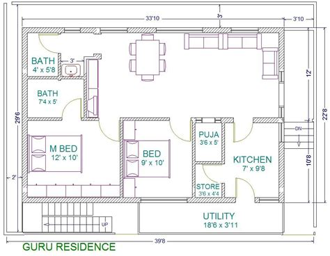 house plan east facing per vastu 30x40 2 bedroom house plans plans for east facing plot vastu plan seris c vastu plan 40 x30