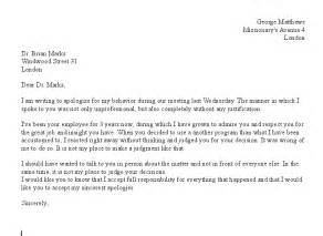 free formal letter apology sle