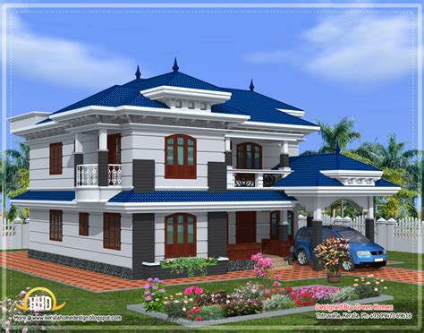 Beautiful Kerala Home Design 2222 Sq Ft Kerala Home House Plans Kerala Kollam