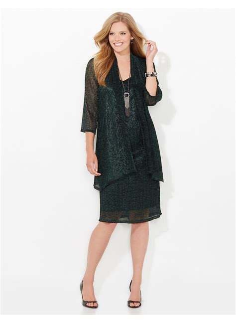 Time The Glam Jacket by Compare Catherines Plus Size Shimmer Glitz Jacket Dress