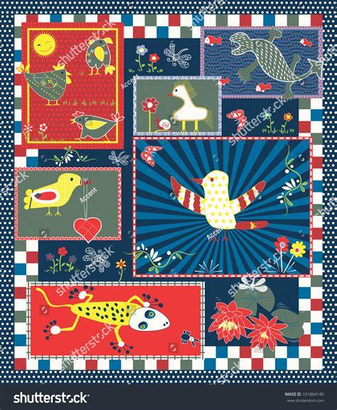 quilt pattern vector quilt pattern for kids stock vector illustration 101864140