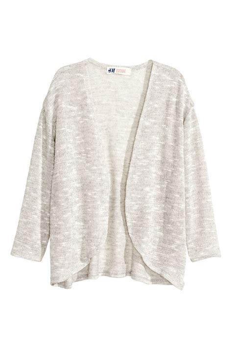 Cardigan Lp 5 glittery cardigan light gray sale h m us