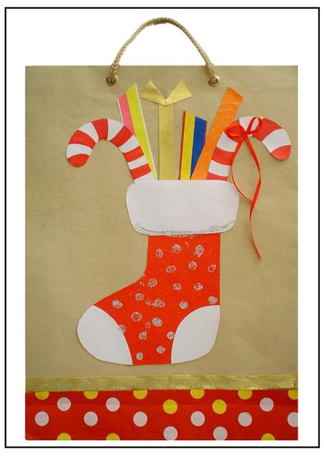 paper bag christmas crafts paper crafts