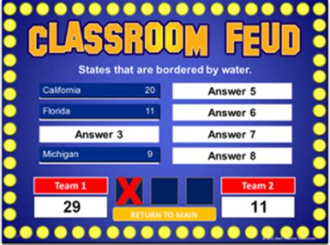 Family Feud Template For Teachers Powerpoint Game Templates Best Teacher Resources Blog