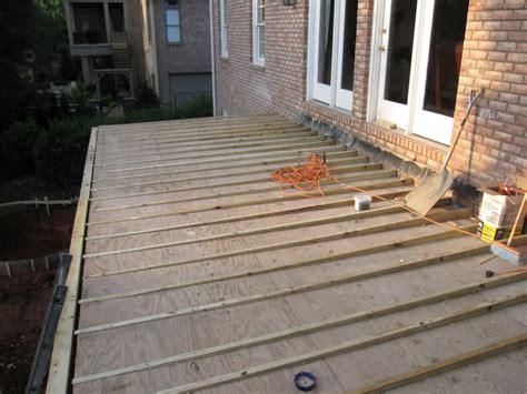front porch decking concrete decoto