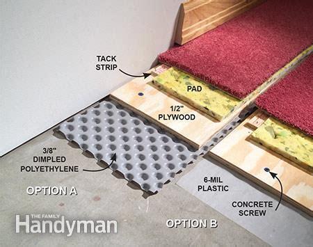 carpet  basement floor  family handyman