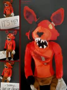 Handmade five nights at freddy s plushie foxy by hipsterowlet on