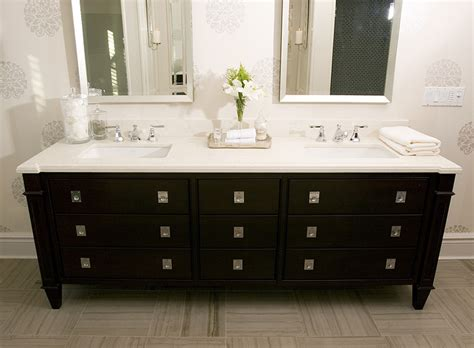 Bathrooms With Black Vanities Black Vanity Transitional Bathroom Dresser Homes