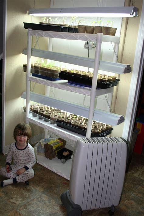 indoor garden setup growing seeds supplemental lighting my humble kitchen