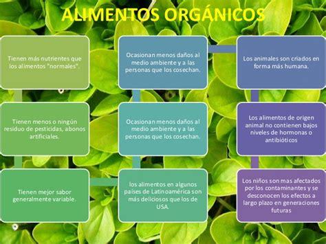 alimentos organicos  sus caracteristicas