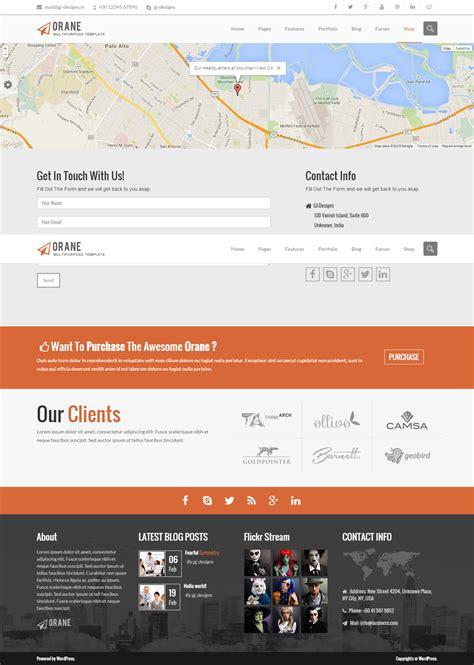 themeforest contact orane an evolutionary wordpress theme by