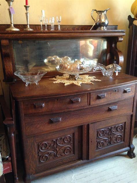 antique buffet  mirror dining room victorian