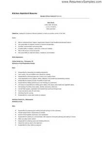 Sle Resume For Kitchen by Chef Assistant Resume Sales Assistant Lewesmr