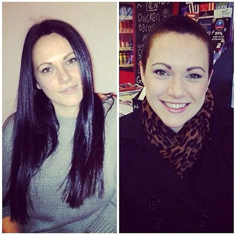 after girls headshave before and after of my charity head shave for breast