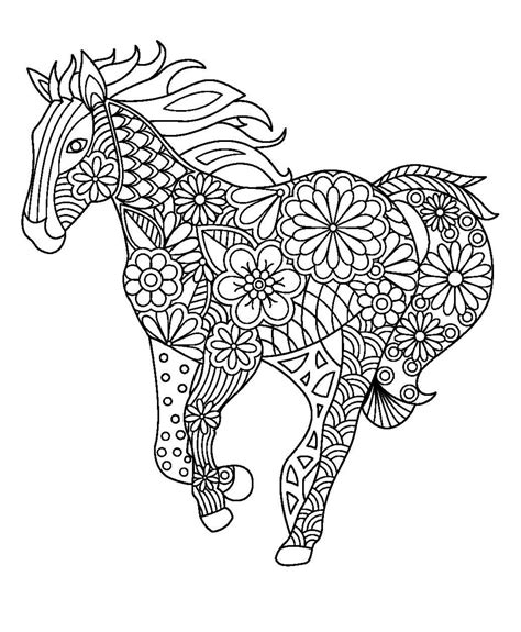 mandala coloring pages horse pin by marischка korepina on лошадь конь олень