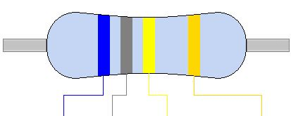 680k ohm resistor color code 680k 680k ohm resistor colour code