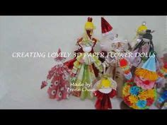 How To Fold Paper For Paper Dolls - 3d paper doll using kusudama folding