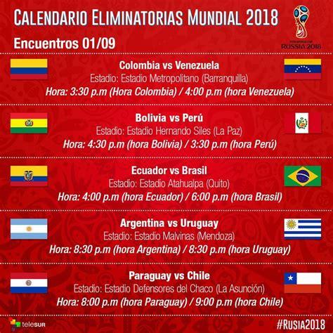 resultados mundial rusia 2018 eliminatorias suramericanas para rusia 2018 inicia jornada