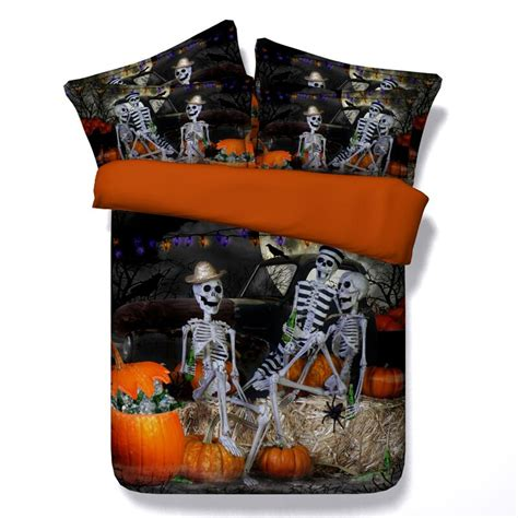 nightmare before christmas king size bedding இpumpkin skull quilt bed bed cover bedding set queen