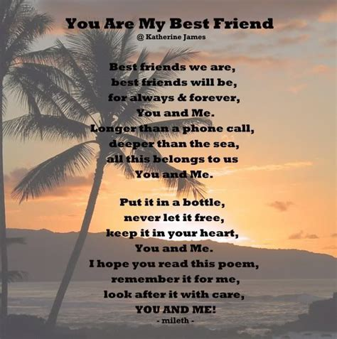 Pin by Margaret Surratt on Poems   Best friend poems