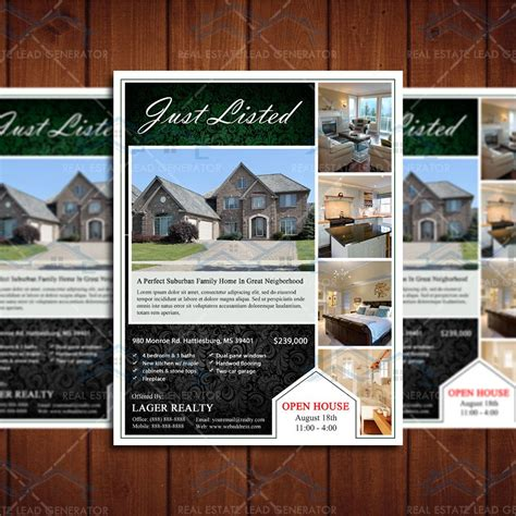 6 best realtor open house flyers to attract potential buyers