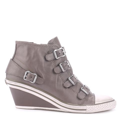 ash shoes buy the ash footwear genial trainers in grey leather