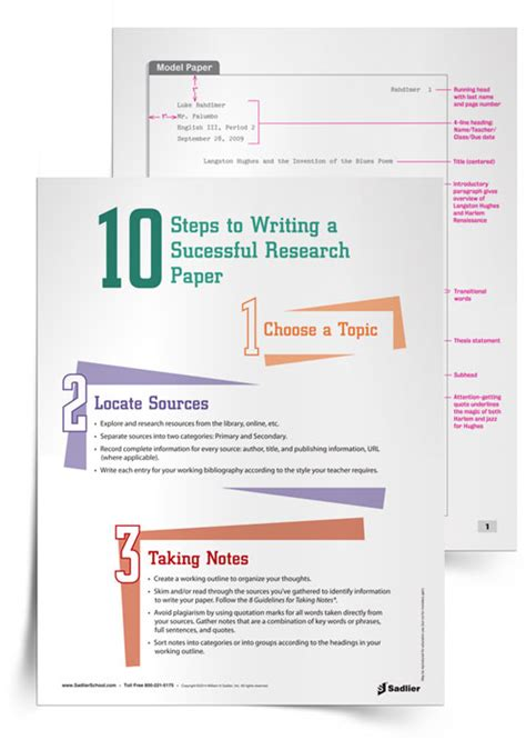 sadlier research paper 10 steps to writing a research paper grammar writing
