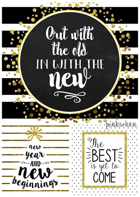 printable new years quotes 3 new years free printables free black free printables