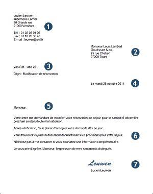 Presentation D Une Lettre Officielle la pr 233 sentation d une lettre