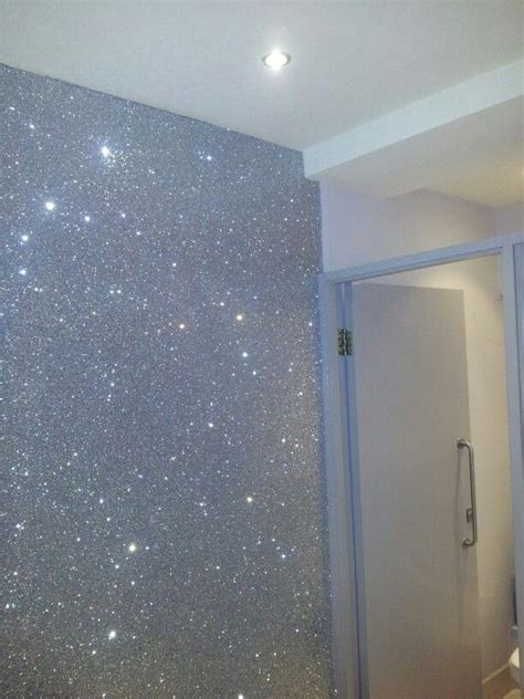 glitter wallpaper paint brilliant sparkly wall paper very effective xx things
