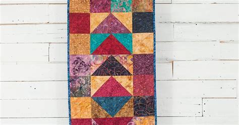 Wina Batik busy quilts win a batik flying geese table runner more cyber monday deals