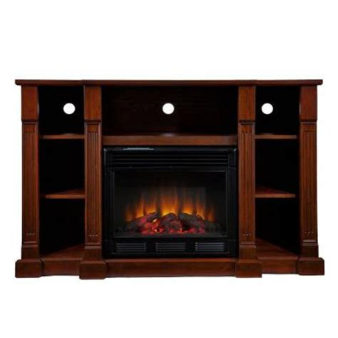 home depot media fireplace southern enterprises kendall 52 in media console electric