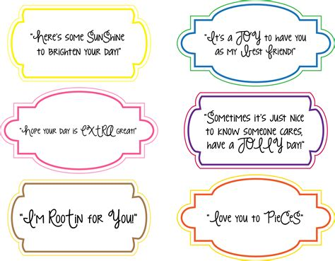 nice note printables for random acts of kindness day