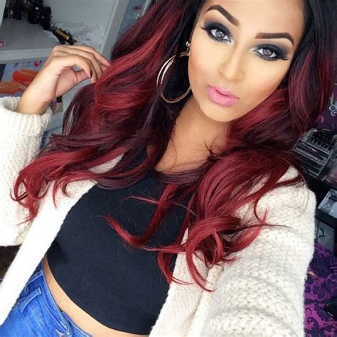 hairstyles and pick a boo color for brunette women over 50 ombr 233 hair rouge sur base brune 19 raisons d y succomber