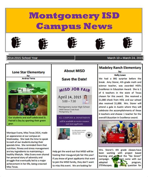school newspaper template 7 download documents in pdf