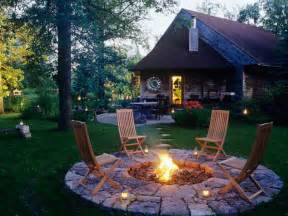 Firepit In Backyard Backyard Patio Ideas With Pit Landscaping Gardening Ideas