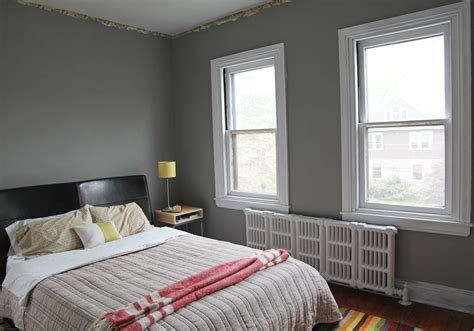 bedroom with gray walls master bedroom new gray wall color white trim stately