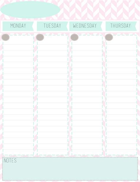 printable monthly planner sheet the rustic redhead weekly planner sheets free printables