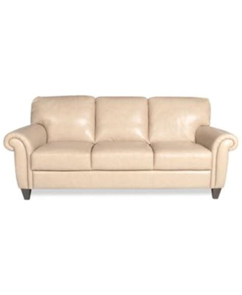 Almafi Leather Sofa Furniture Macy S Almafi Leather Sofa
