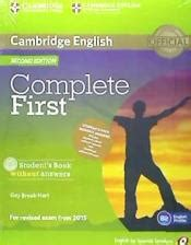 libro complete first workbook without complete first for spanish speakers student s pack without answers student s book with cd rom