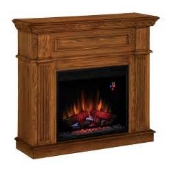 electric fireplace logs lowes shop style selections 41 in w 4 600 btu premium oak wood